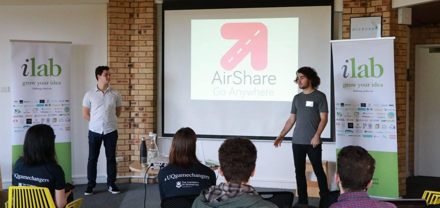 AirShare pitching at ilab Accelerator Bootcamp