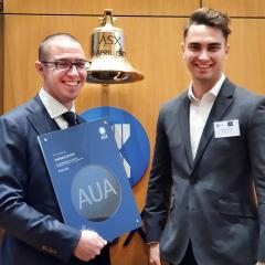 Audeara CEO and CTO at the listing of their company on the ASX